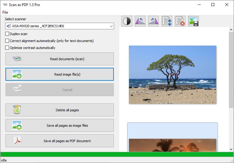 Scan as PDF - Scan2PDF